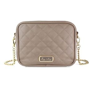 Itzy Ritzy Double Take Taupe Crossbody Diaper Bag